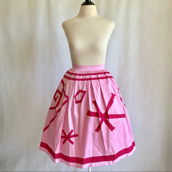 Disney Parks Skirt for Women Alice in Wonderland Pink Tea Cups NWT